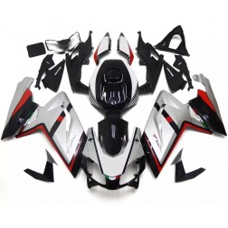 Silver, Black & Red Motorcycle Fairings For Motorcycle Fairings For 2006-2011 Aprilia RS 125