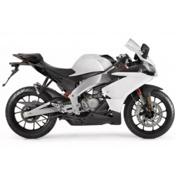 Silver & Black Motorcycle Fairings For Motorcycle Fairings For 2006-2011 Aprilia RS 125