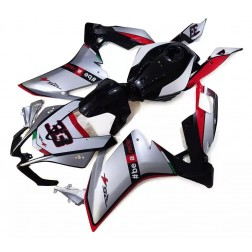 Silver, Black & Red Motorcycle Fairings For 2012-2014 Aprilia RS4 125