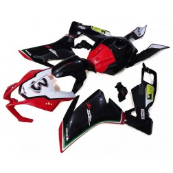 Black, Red & White Motorcycle Fairings For 2012-2014 Aprilia RS4 125