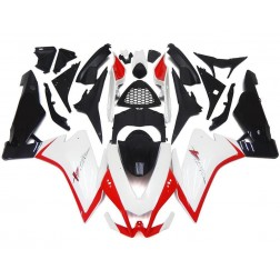Pearl White, Red & Black Motorcycle Fairings For 2010-2016 Aprilia RSV4 1000