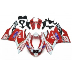 Red & White Motorcycle Fairings For 2012-2014 Ducati 899 / 1199