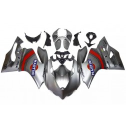 Silver Martini Motorcycle Fairings For 2012-2014 Ducati 899 / 1199