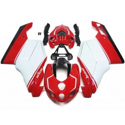 Red & White Motorcycle Fairings For 2005-2006 Ducati 749 / 999