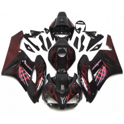 Black & Red Flames Motorcycle Fairings For 2004-2005 Honda CBR1000RR