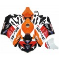 Orange, Black & Red Repsol Motorcycle Fairings...