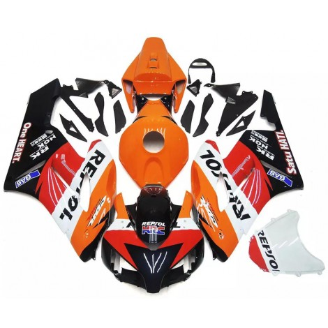 Orange, Black & Red Repsol Motorcycle Fairings For 2004-2005 Honda CBR1000RR
