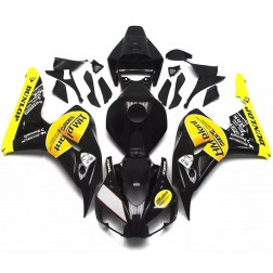 Black & Yellow Motorcycle Fairings For 2006-2007 Honda CBR1000RR