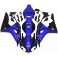 Gloss Blue & Black Motorcycle Fairings For 200...