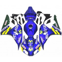 Blue Movistar Motorcycle Fairings For 2006-2007 Honda CBR1000RR