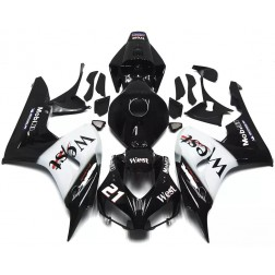Black West Motorcycle Fairings For 2006-2007 Honda CBR1000RR