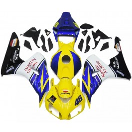 Yellow, Blue & White Motorcycle Fairings For 2...
