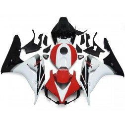 Black, White & Red Motorcycle Fairings For 2006-2007 Honda CBR1000RR