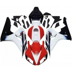 Black, Red & White Motorcycle Fairings For 2006-2007 Honda CBR1000RR