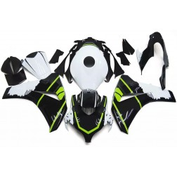 Black, White & Green Motorcycle Fairings For 2008-2011 Honda CBR1000RR