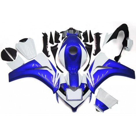 Blue & White Motorcycle Fairings For 2008-2011 Honda CBR1000RR