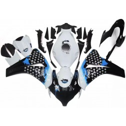 Black, White & Blue Motorcycle Fairings For 2008-2011 Honda CBR1000RR