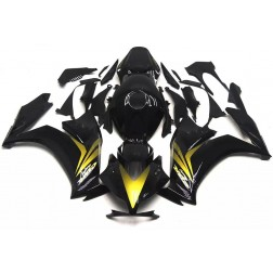 Gloss Black & Gold Motorcycle Fairings For 2012-2016 Honda CBR1000RR
