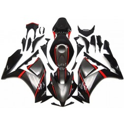 Black, Gray & Red Motorcycle Fairings For 2012-2016 Honda CBR1000RR