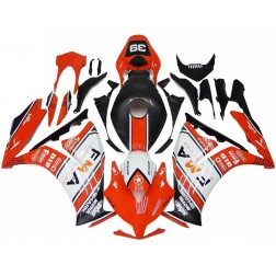 Orange & White FMA Motorcycle Fairings For 2012-2016 Honda CBR1000RR