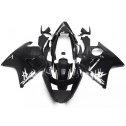 Black & White Motorcycle Fairings For 1997-2007 Honda CBR1100XX
