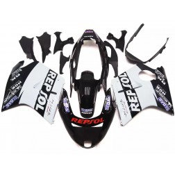 Black & White Repsol Motorcycle Fairings For 1997-2007 Honda CBR1100XX