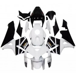 White & Matte Black Motorcycle Fairings For 2005-2006 Honda CBR600RR