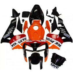 Orange & Black Repsol Motorcycle Fairings For 2005-2006 Honda CBR600RR