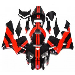 Black & Red Stripes Motorcycle Fairings For 2005-2006 Honda CBR600RR