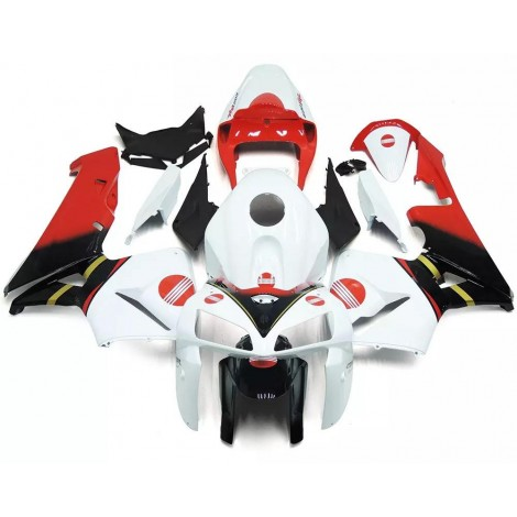 White, Red & Black Motorcycle Fairings For 2005-2006 Honda CBR600RR