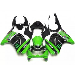 Black & Green Motorcycle Fairings For 2008-2012 Kawasaki Ninja 250R