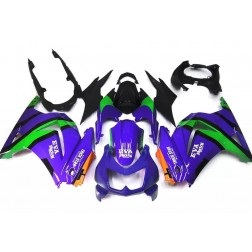 Purple & Green Eva Racing Motorcycle Fairings For 2008-2012 Kawasaki Ninja 250R