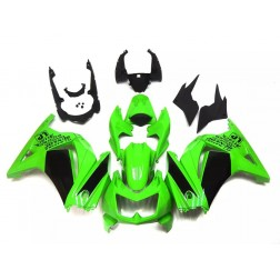 Green & Black Motorcycle Fairings For 2008-2012 Kawasaki Ninja 250R