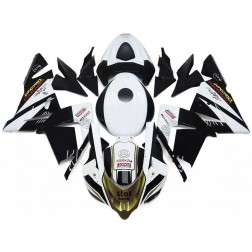 Black, White & Gold Motorcycle Fairings For 2004-2005 Kawasaki ZX-10R