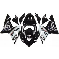 Black West Motorcycle Fairings For 2004-2005 Kawasaki ZX-10R
