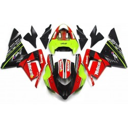 Red, Green & Black Motorcycle Fairings For 2004-2005 Kawasaki ZX-10R