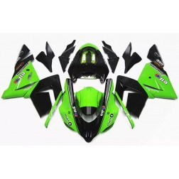 Matte Black & Green Motorcycle Fairings For 2004-2005 Kawasaki ZX-10R