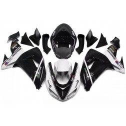 Black & White Motorcycle Fairings For 2006-2007 Kawasaki ZX-10R