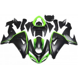 Black & Green Motorcycle Fairings For 2006-2007 Kawasaki ZX-10R