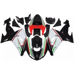 Black, White & Red Motorcycle Fairings For 2006-2007 Kawasaki ZX-10R