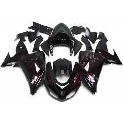 Black & Red Flames Motorcycle Fairings For 2006-2007 Kawasaki ZX-10R