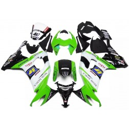 Green, White & Black Motorcycle Fairings For 2008-2010 Kawasaki ZX-10R