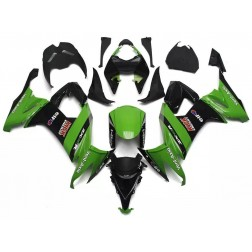 Green & Black Motorcycle Fairings For 2008-2010 Kawasaki ZX-10R