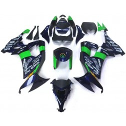 Blue & Green Motorcycle Fairings For 2008-2010 Kawasaki ZX-10R
