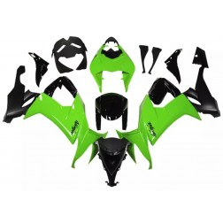 Black & Green Motorcycle Fairings For 2008-2010 Kawasaki ZX-10R