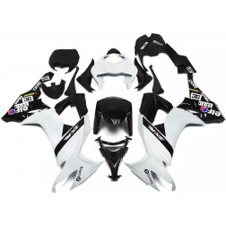 White & Black Elf Motorcycle Fairings For 2008-2010 Kawasaki ZX-10R