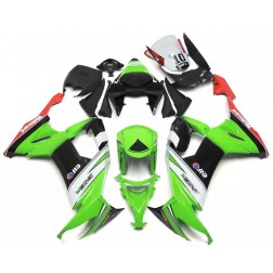 Green & Black Elf Motorcycle Fairings For 2008-2010 Kawasaki ZX-10R