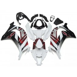 White, Red & Black Motorcycle Fairings For 2011-2015 Kawasaki ZX-10R