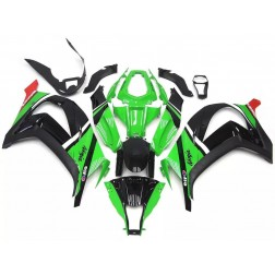 Green & Black Motorcycle Fairings For 2011-2015 Kawasaki ZX-10R