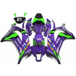 Purple & Green Motorcycle Fairings For 2011-2015 Kawasaki ZX-10R